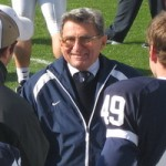 Joe Paterno in 2006, four years after an incident of child abuse was allegedly reported to him. Image via wikipedia.