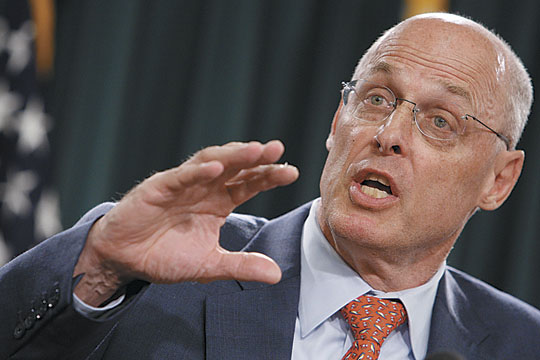 In 2010, former Secretary of the Treasury <b>Henry Paulson</b> suggested that <b>...</b> - henry-paulson