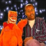 David Liebe Hart with the puppet I suspect Tim and Eric are holding hostage. True story.