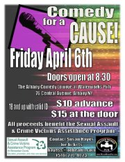 JUST ADDED! Comedy for a Cause TONIGHT (Friday 4/7/2012 @ 9pm) @ Waterworks Pub (2nd Floor) | Albany | New York | United States