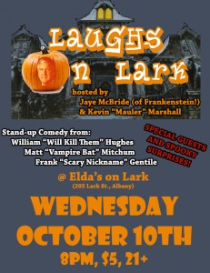 Laughs on Lark October Halloween Spooktacular @ Elda's on Lark | Albany | New York | United States