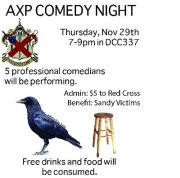 Alpha Chi Ro Charity Comedy Event @ DCC 337 | Troy | New York | United States