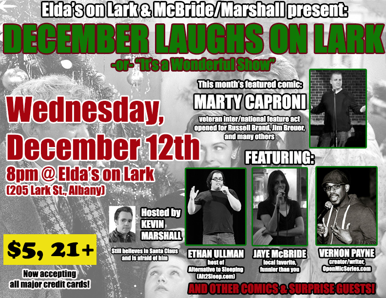"December Laughs on Lark: ""It's a Wonderful Show"" @ Elda's on Lark 